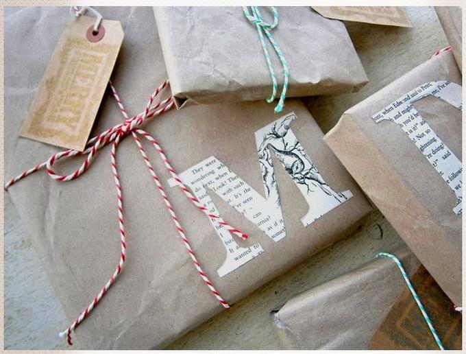 Bekannt Geschenke Verpackung selbermachen mit braunem Packpapier und RU66