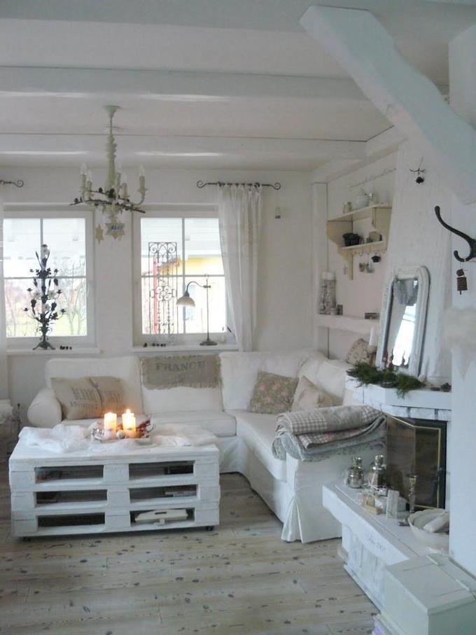 Wohnzimmer im Shabby Chic Stil! Gefällt mir auch sehr gut ...
