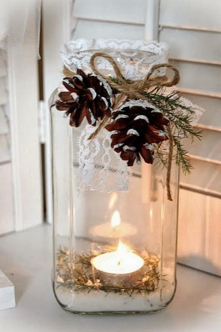 Schöne Und Einfache Idee Für Weihnachtsdeko Foto Veröffentlicht Von