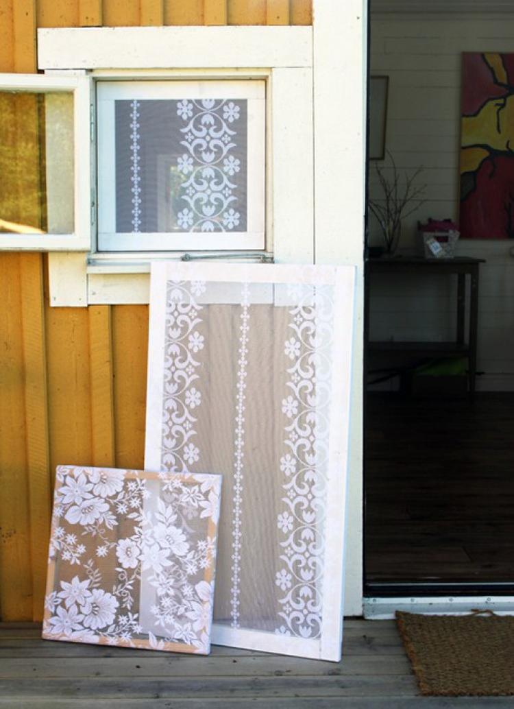 Gardinen Selber Machen dekoratives fliegengitter selber machen aus holzlatten und schönen