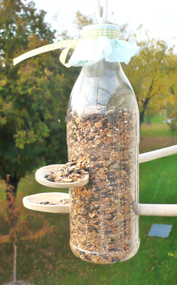 Tolles Vogelfutterhaus Zum Selbermachen Aus Einer Alten Pet Flasche