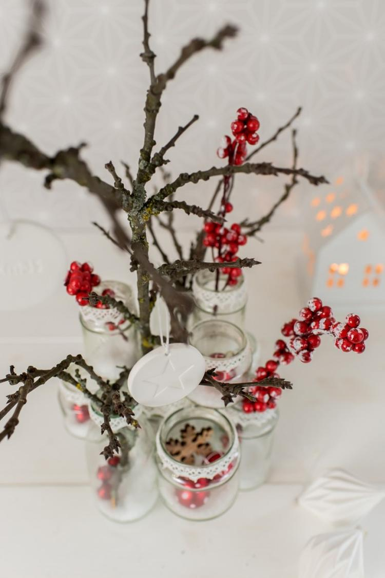 Weihnachtsdeko Selber Basteln weihnachtsdeko selber basteln schraubverschluss gläser in