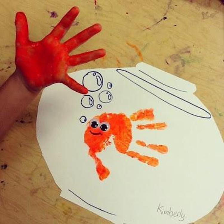Kreative Ideen Mit Handu2013 Und Fußabdrücken Von Babys Und Kindern. Schöne Idee  Für Ein