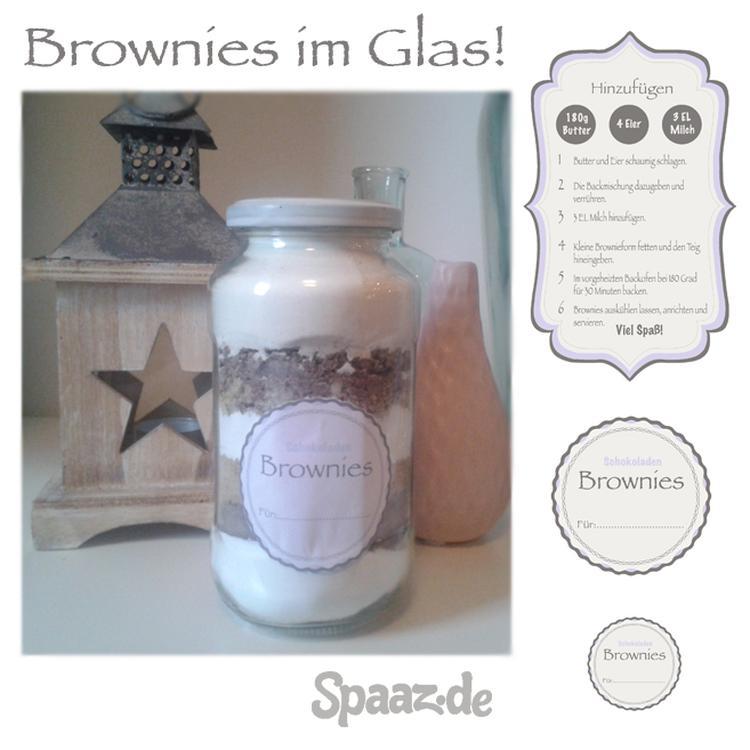 Brownies im Glas als kleines Geschenk aus der Küche! Persönliche ...