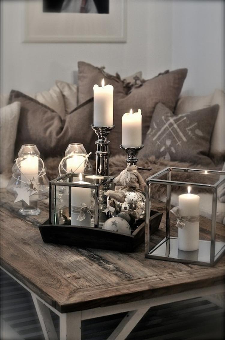 Gemütliche Wohnzimmer Dekoration und warme Farben! Genau das ...