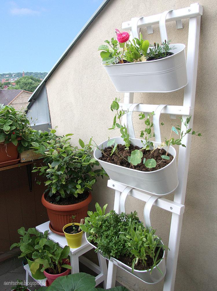Blumenleiter zum selber machen für den Garten oder Balkon. Schöne ...