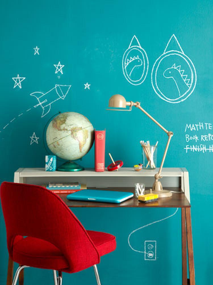 Wandtafel Kunst im Kinderzimmer und statt klassischem schwarz mal ...