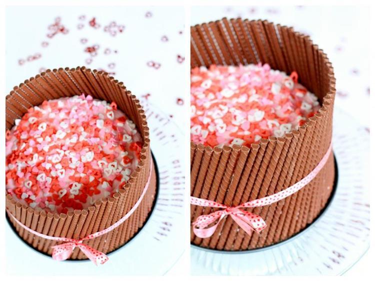 Valentinstag-Torte! Was man dafür braucht: Kuchenform, Fertig ...