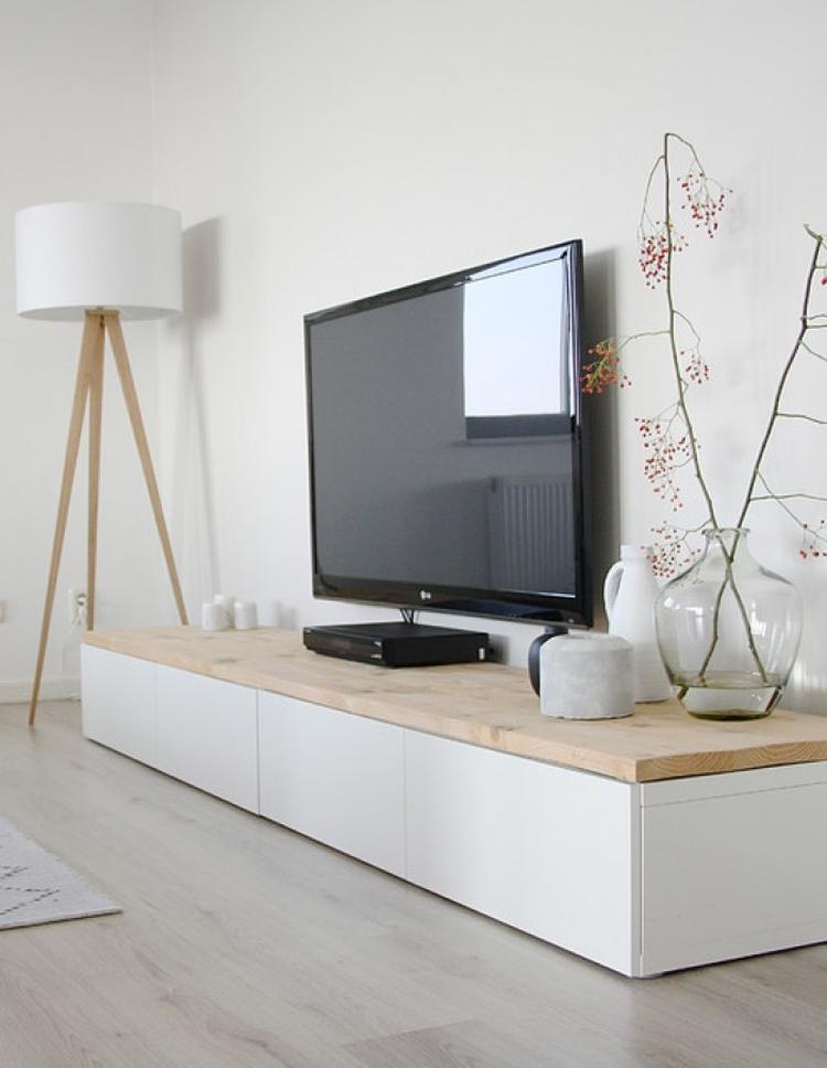 Küchenschrank ikea  So kann man einen simplen Ikea Besta Schrank noch verschönern ...
