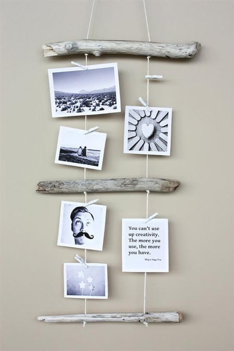 Klasse DIY Bilderrahmen aus Holz. Foto veröffentlicht von ...