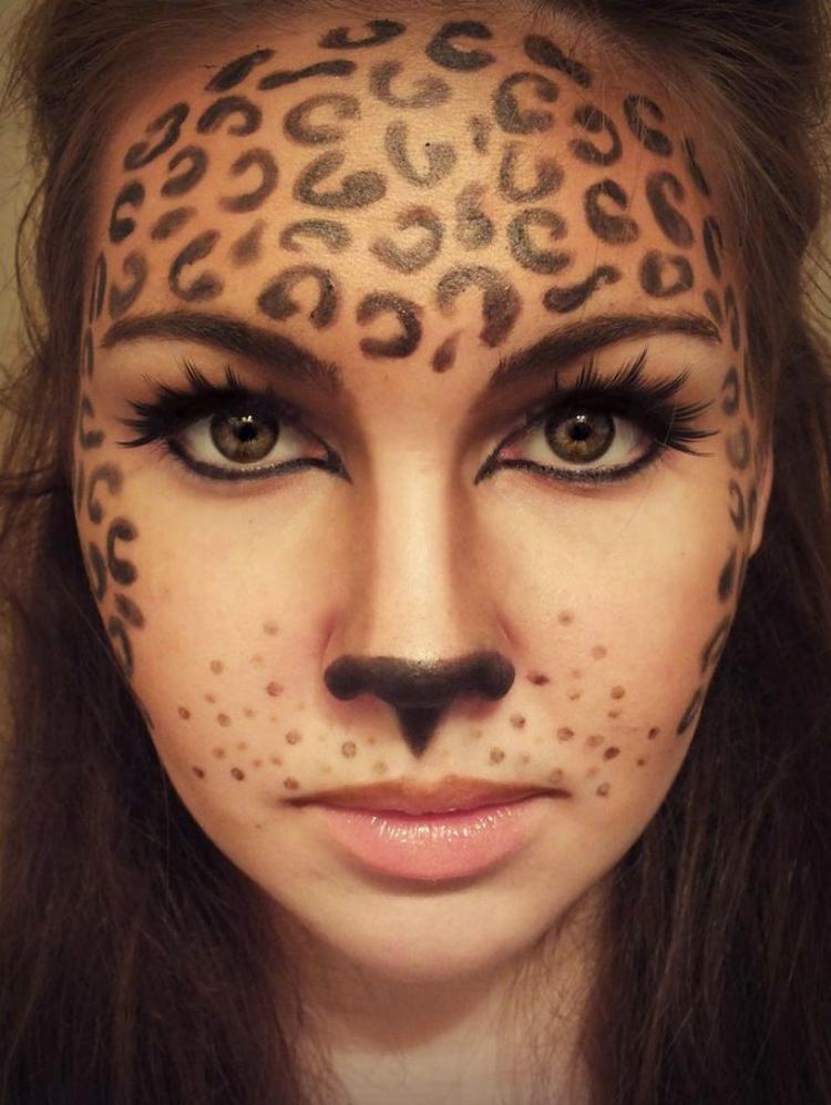 Klasse Fasching Make Up Idee Leoparden Schminke Foto