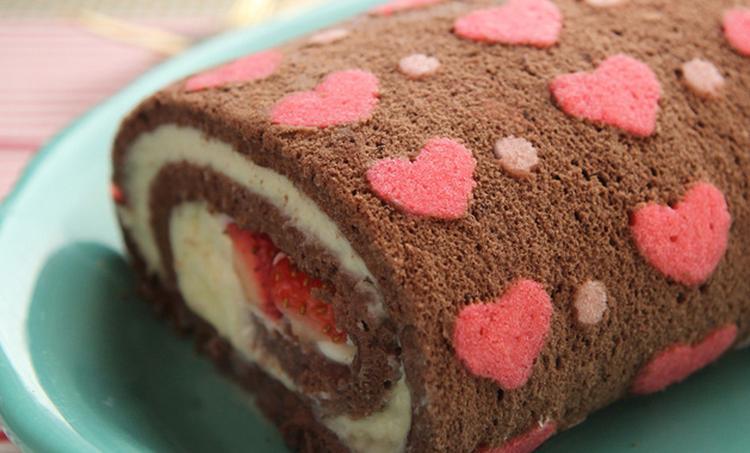 Kuchen Für Verliebte. Tolle Idee Für Den Valentinstag