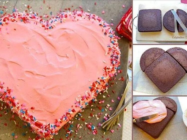 Aus Zwei Runden Kuchen Ganz Einfach Ein Herz Zaubern Oder Das Herz