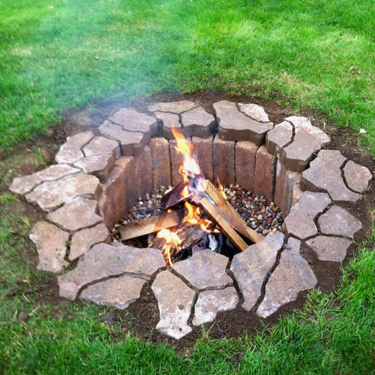 Etonnant Schöne Feuerstelle Im Garten