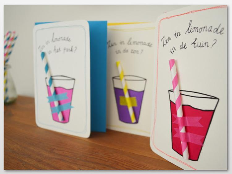 Einladungskarten selbermachen Sommer Party Kindergeburtstag. Foto ...