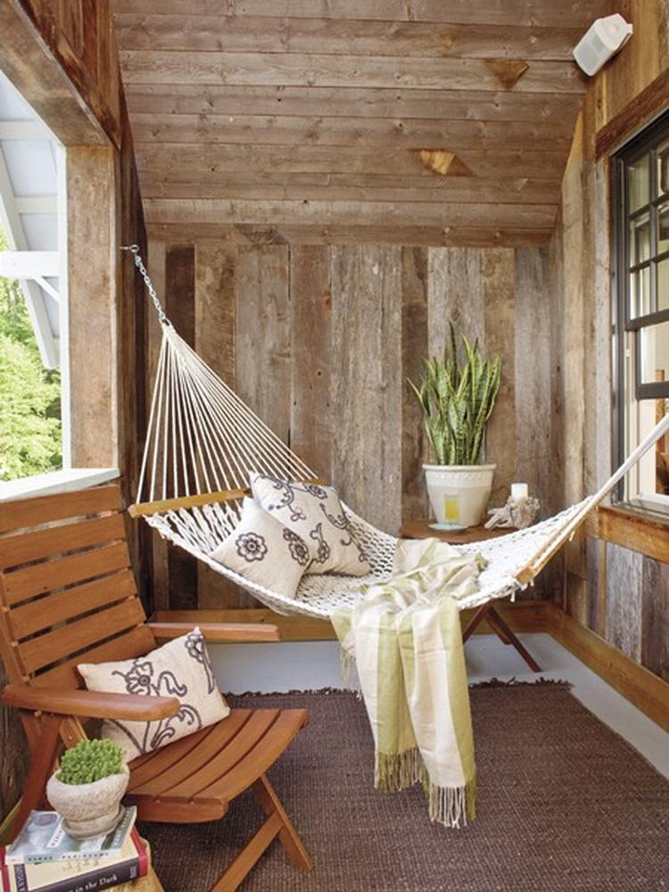 Wunderbar Gemütliche Mini Hängematte Für Eine Chill Ecke Auf Einem Kleinen Balkon
