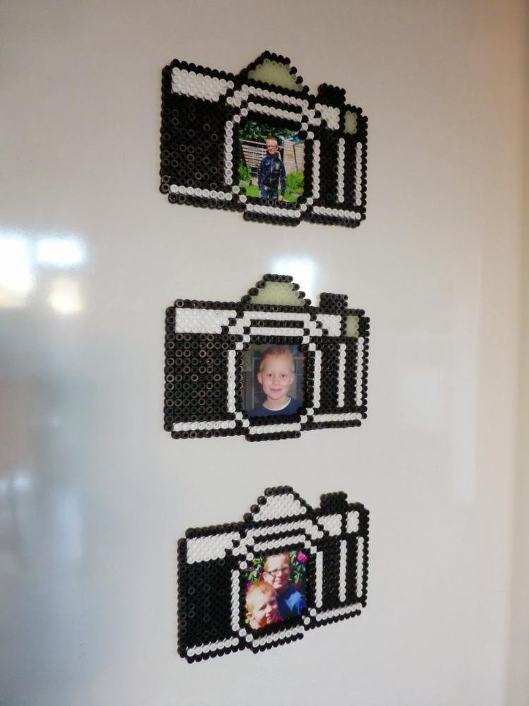 Lustige Bilderrahmen selber machen mit Bügelperlen. Foto ...