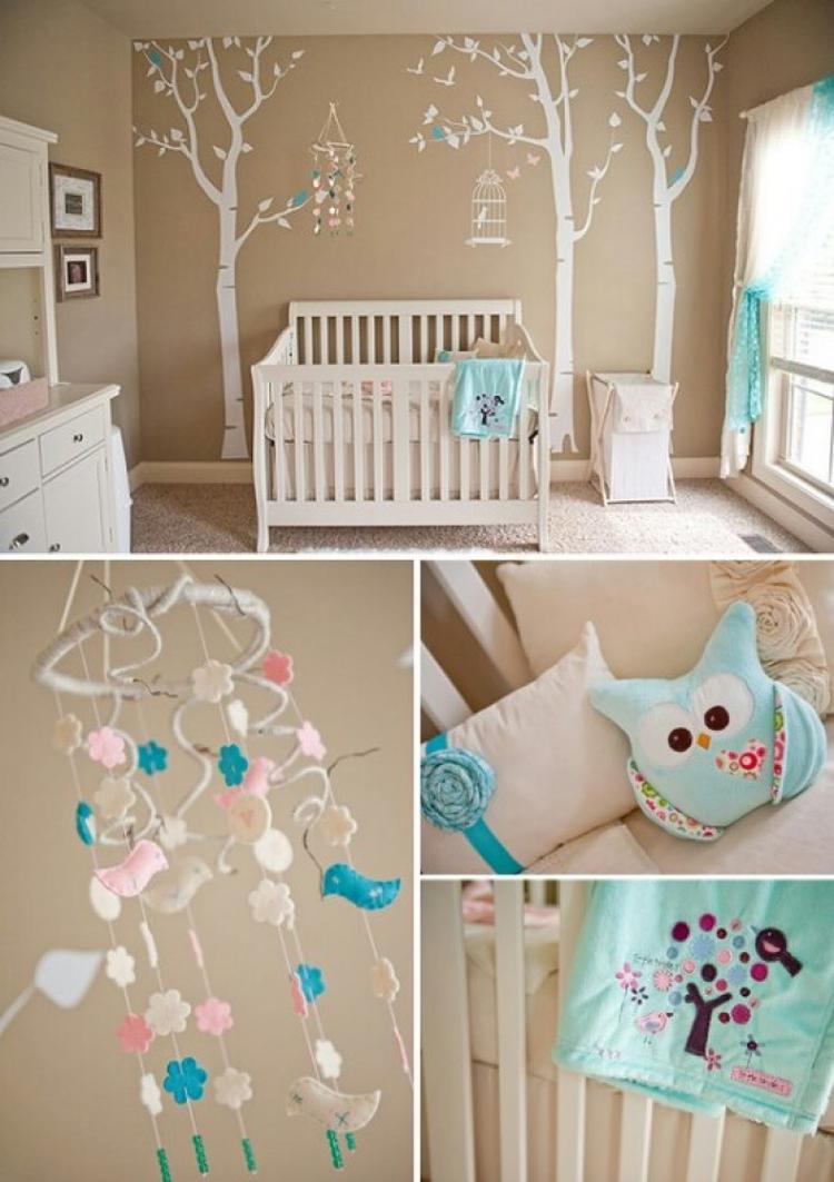 Schone Farbkombination Fur Ein Babyzimmer Und Neutral Foto