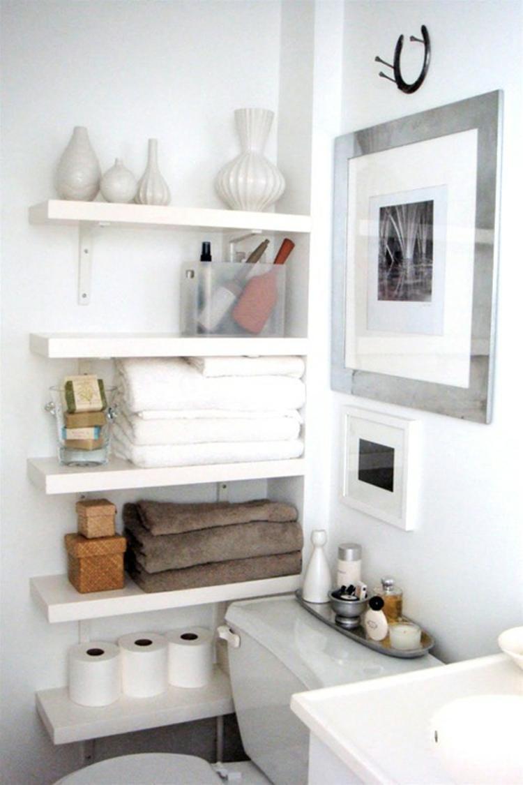 Regale Für Badezimmer trick für ein kleines badezimmer wenn kein schrank rein passt