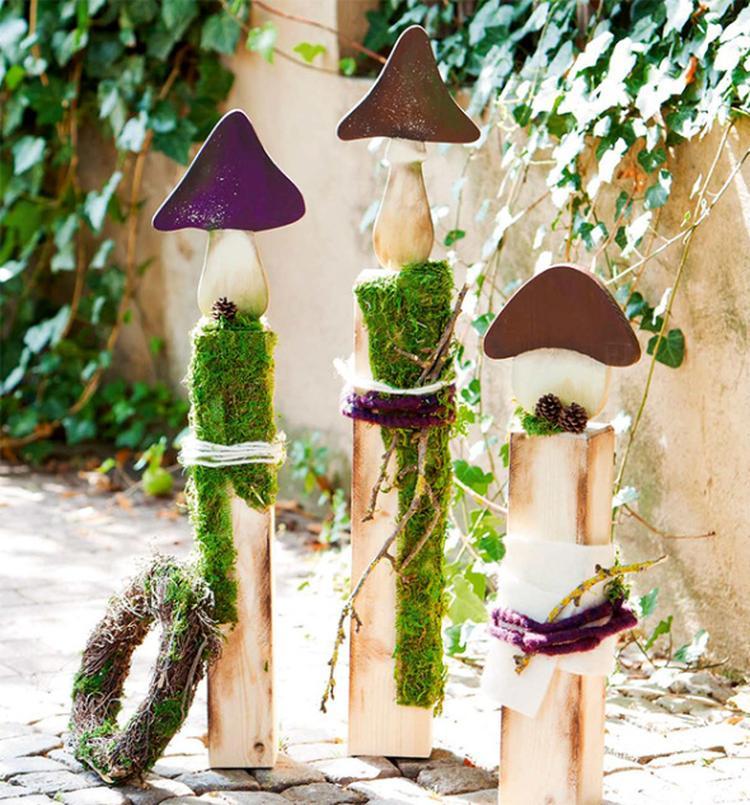 Schöne Gartendeko kann man mit altem Holz bestimmt selber machen ...