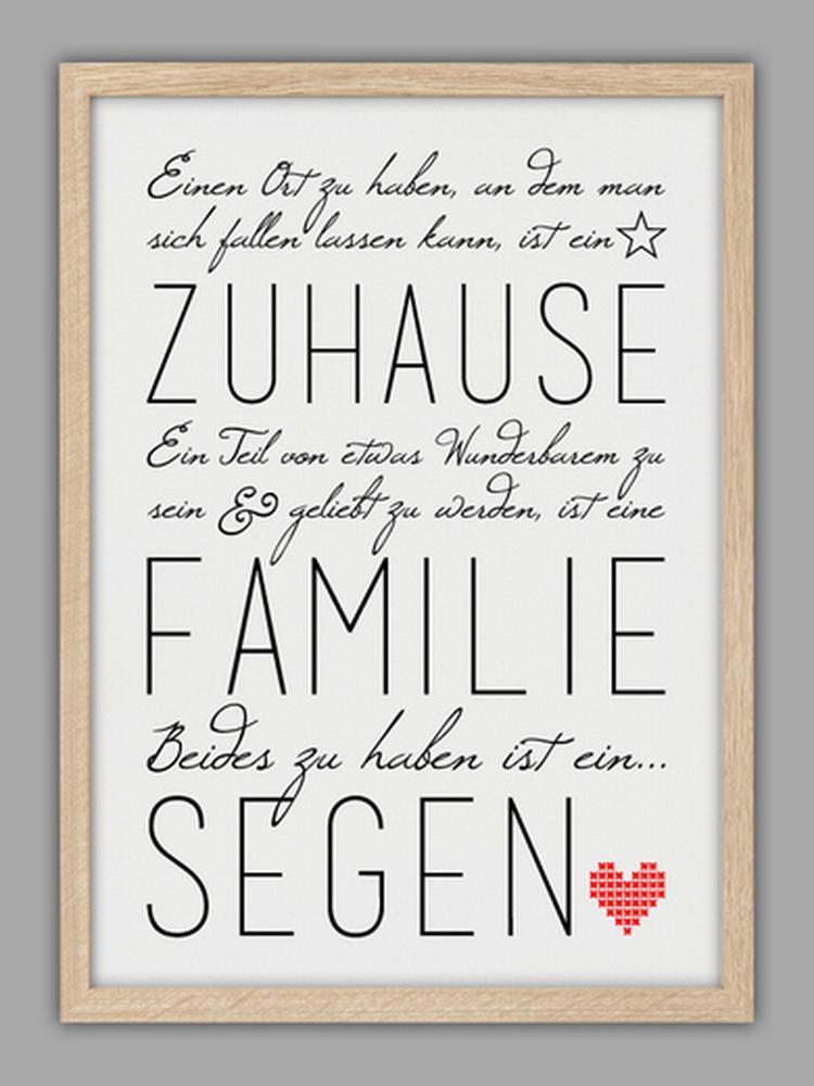 Schöner Spruch U0027u0027Familie Und Zuhauseu0027u0027