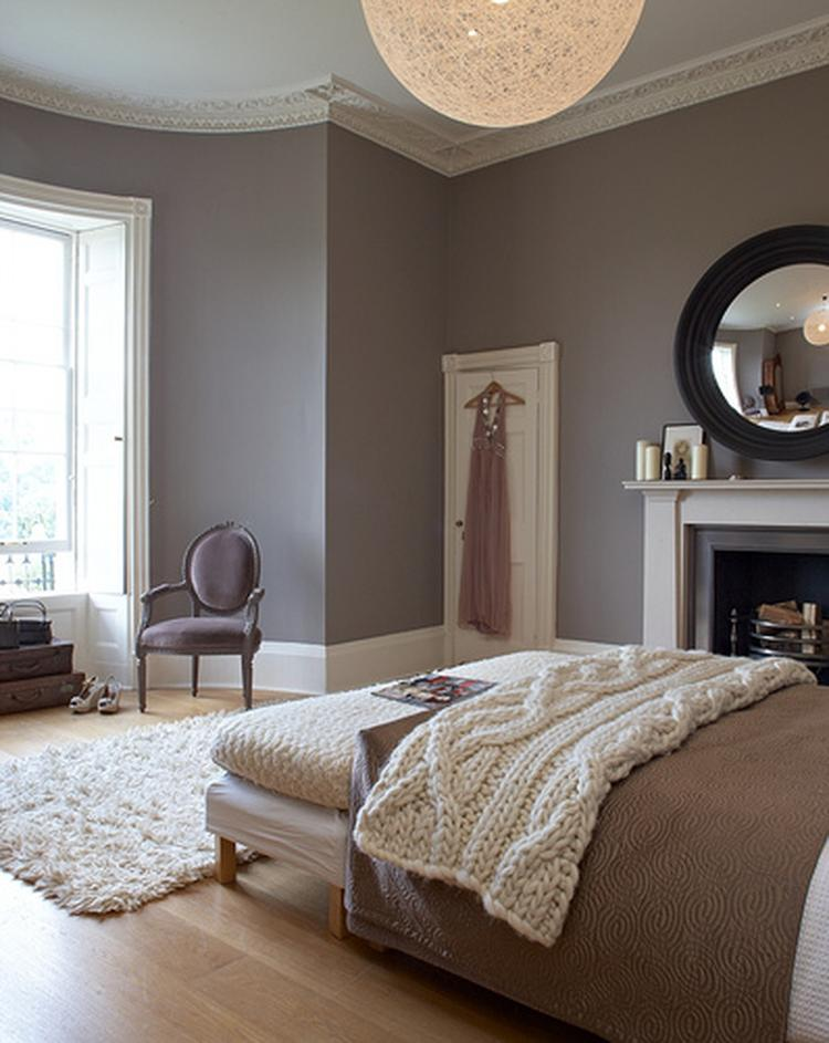 Schöne warme Farben für ein Schlafzimmer. Foto veröffentlicht von ...