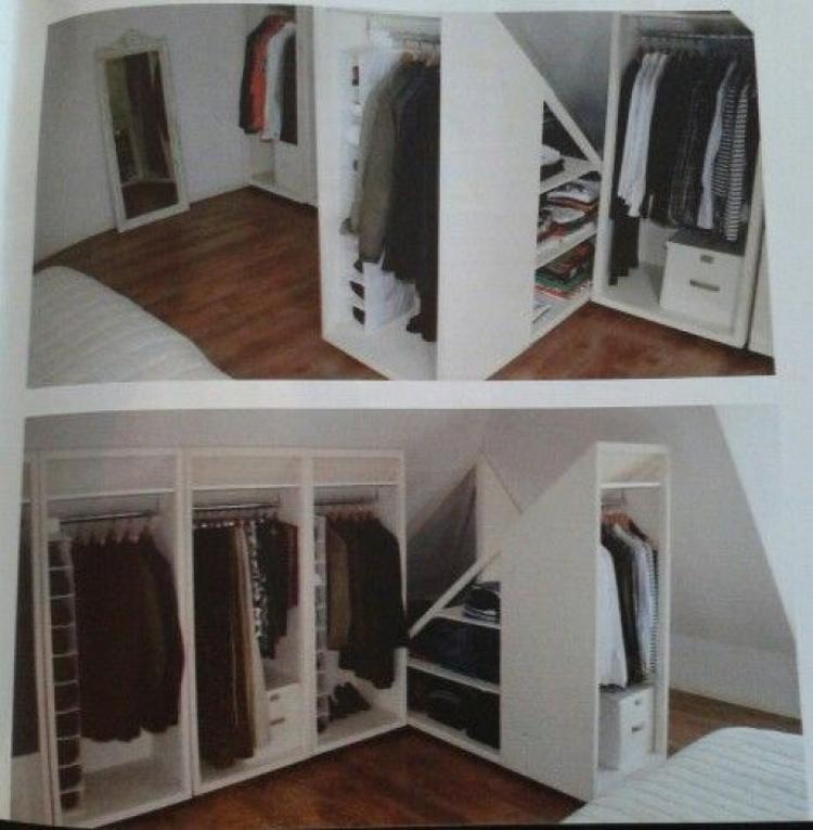 Praktische Lösung für einen Kleiderschrank in einem Zimmer mit ...