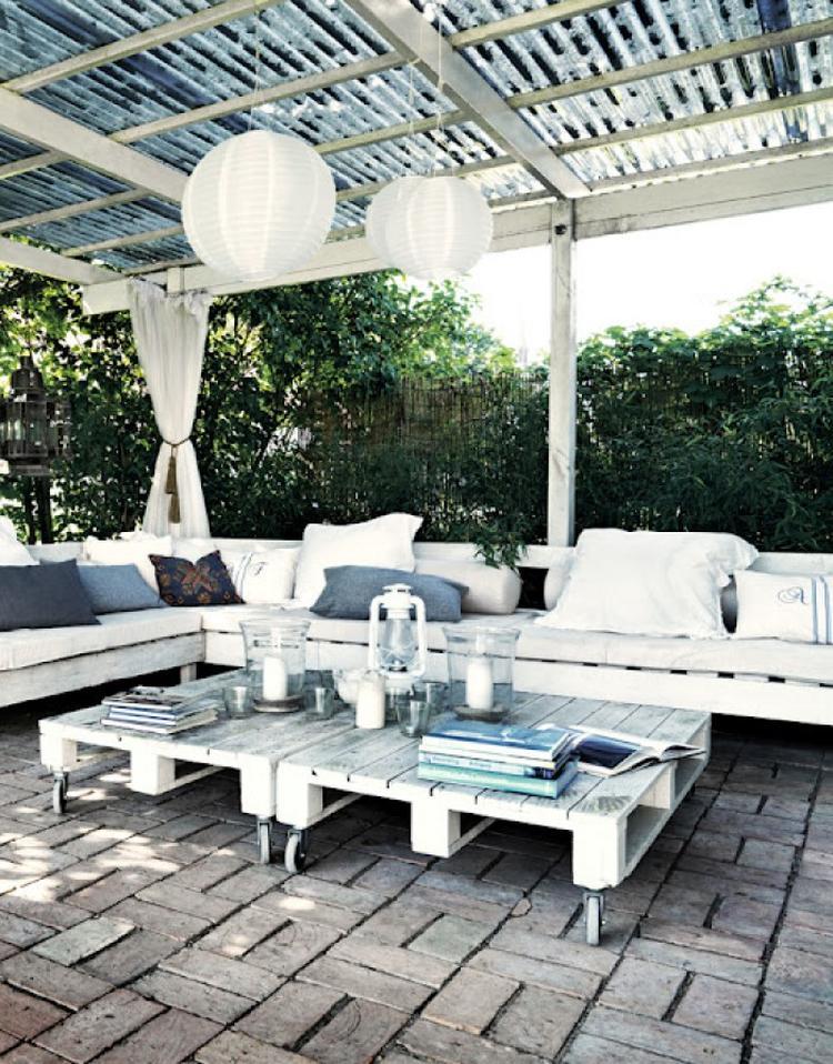 Lounge Gartenmöbel aus Paletten bauen. Foto veröffentlicht von ...