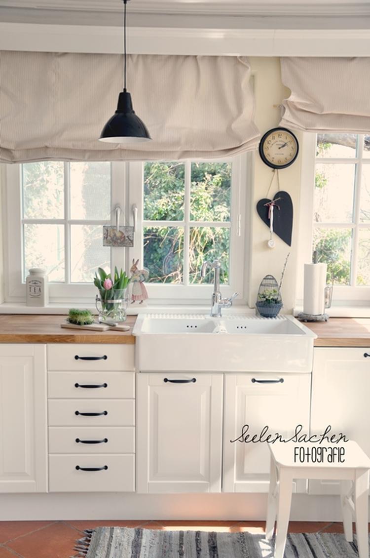 Romantische Gardinen für die Küche. Foto veröffentlicht von Leonie ...