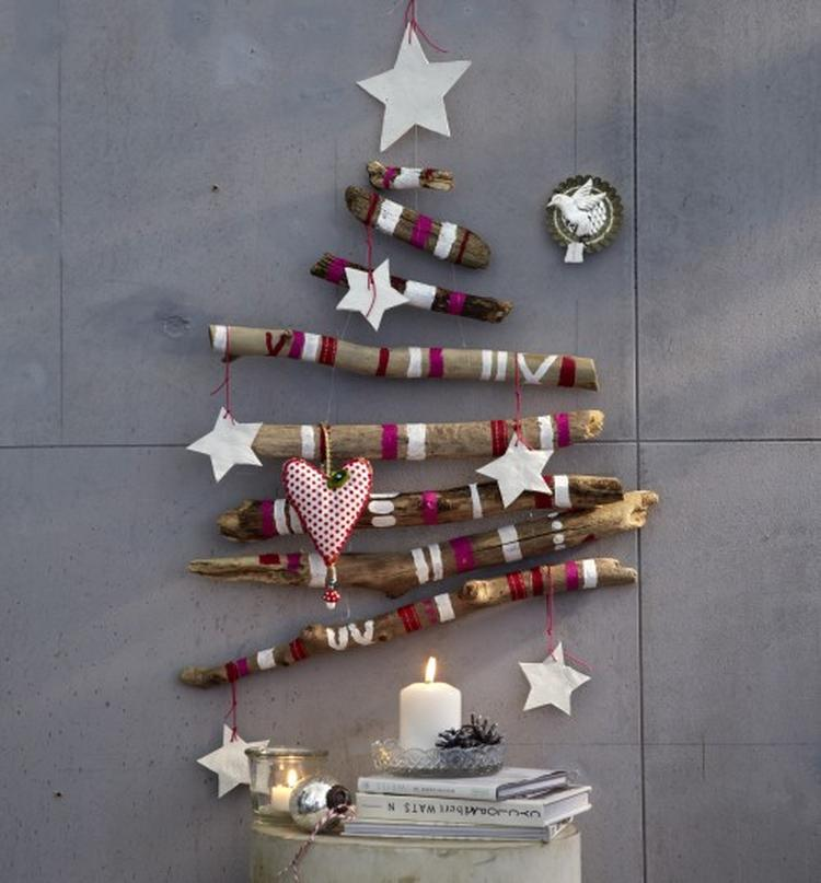 weihnachtsbaume aus zweigen basteln europ ische weihnachtstraditionen. Black Bedroom Furniture Sets. Home Design Ideas
