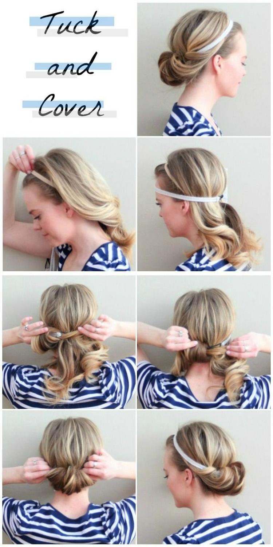 Ganz Einfache Haarband Frisur Foto Veroffentlicht Von Flowerpower
