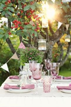 Fotoalbum: Tischdeko für Gartenparty, erstellt von Crea auf Spaaz.de